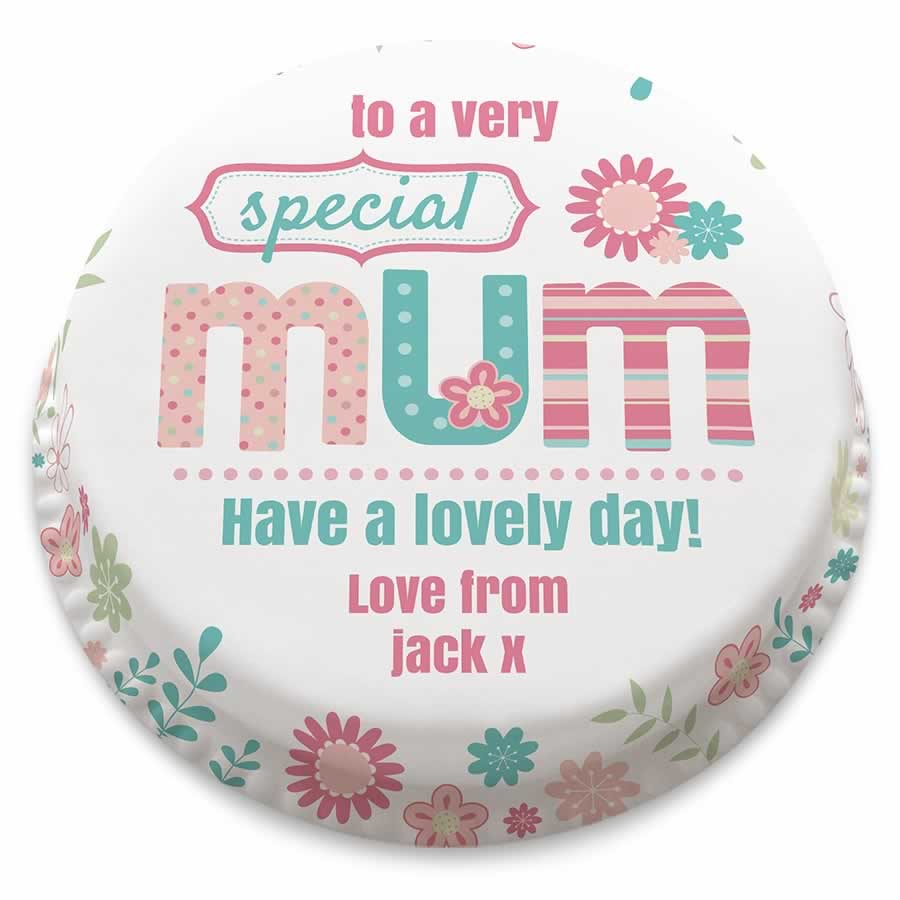 Mother's Day Gifts - Personalised cake