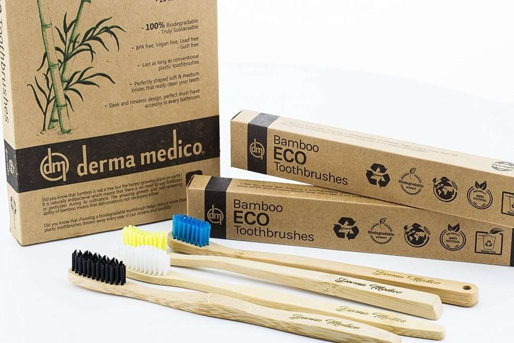 Save the environment by cutting down on plastic usage and switching to bamboo toothbrushes.