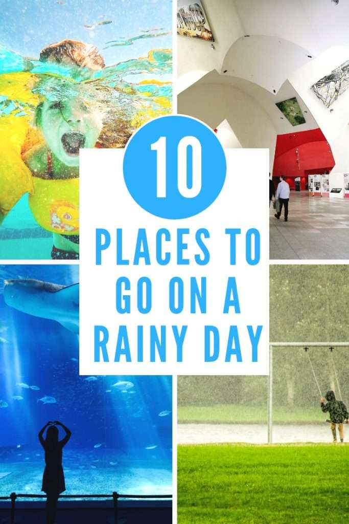 Check out these 10 places you can take the whole family to even when it's raining outside. No need to stay indoors on a rainy day!