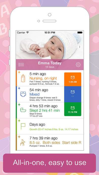 Screenshot of Baby Tracker App