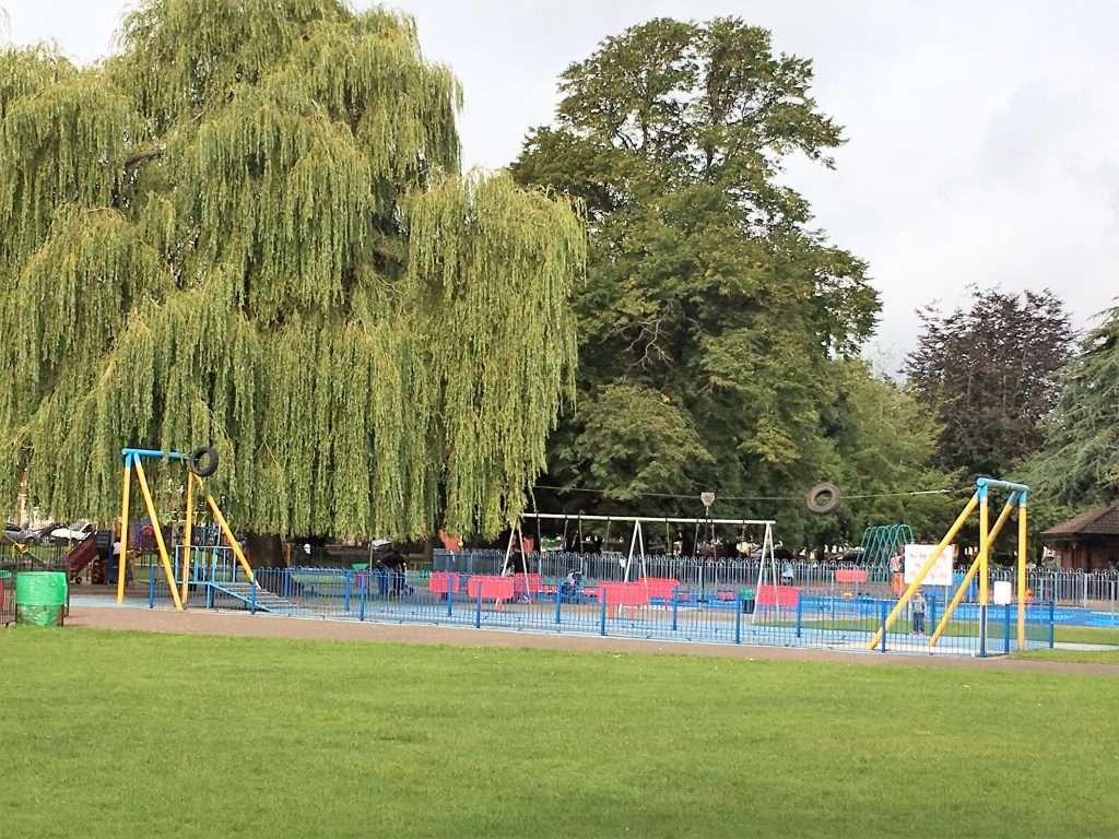 Playground and zip line