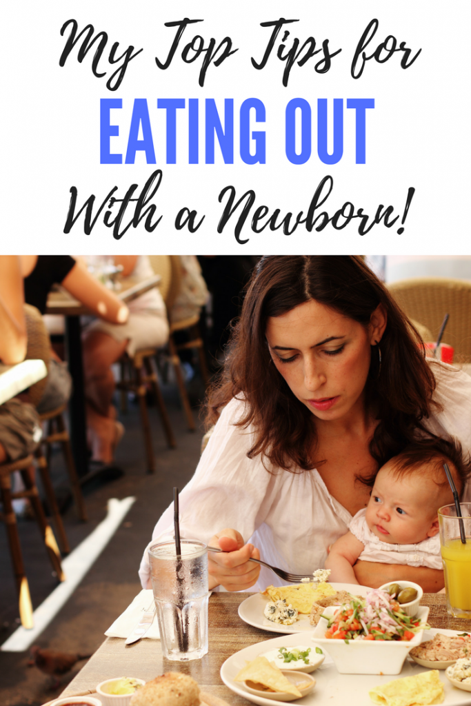 Eating out with a newborn can be daunting, but here are my top tips for heading out to a restaurant with your newborn baby.