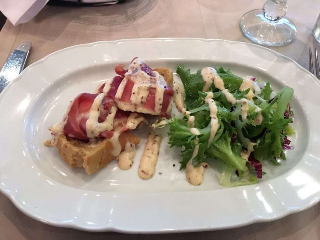 A bacon salad