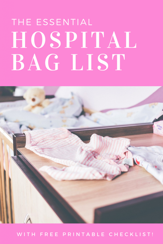 The essential hospital bag packing list. All you need to know about packing your bags ready to give birth!