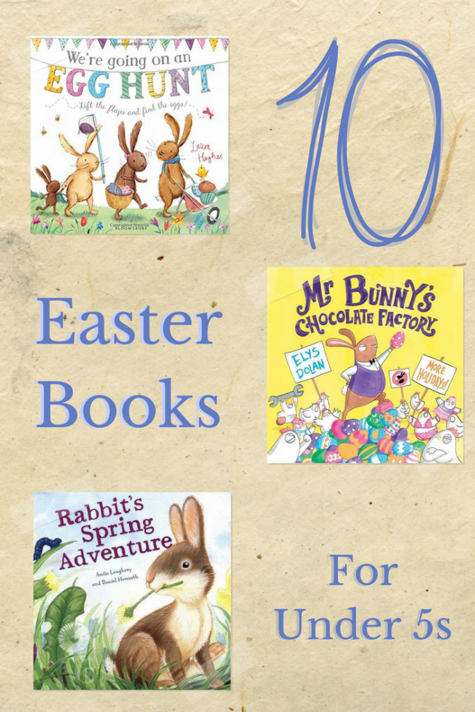 10 amazing Easter books that focus on the theme of spring, new life, bunnies and easter egg hunting. Ideal reading for young minds, suitable for those under 5. Bright, engaging and rhyming texts that will help you interact with your babites, toddlers and pre-schoolers over Easter.