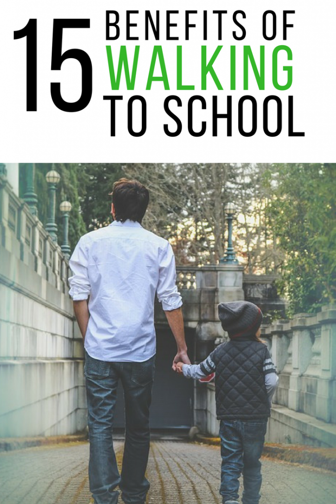 15 amazing benefits of walking to school, including social, mental, physical and environmental benefits!