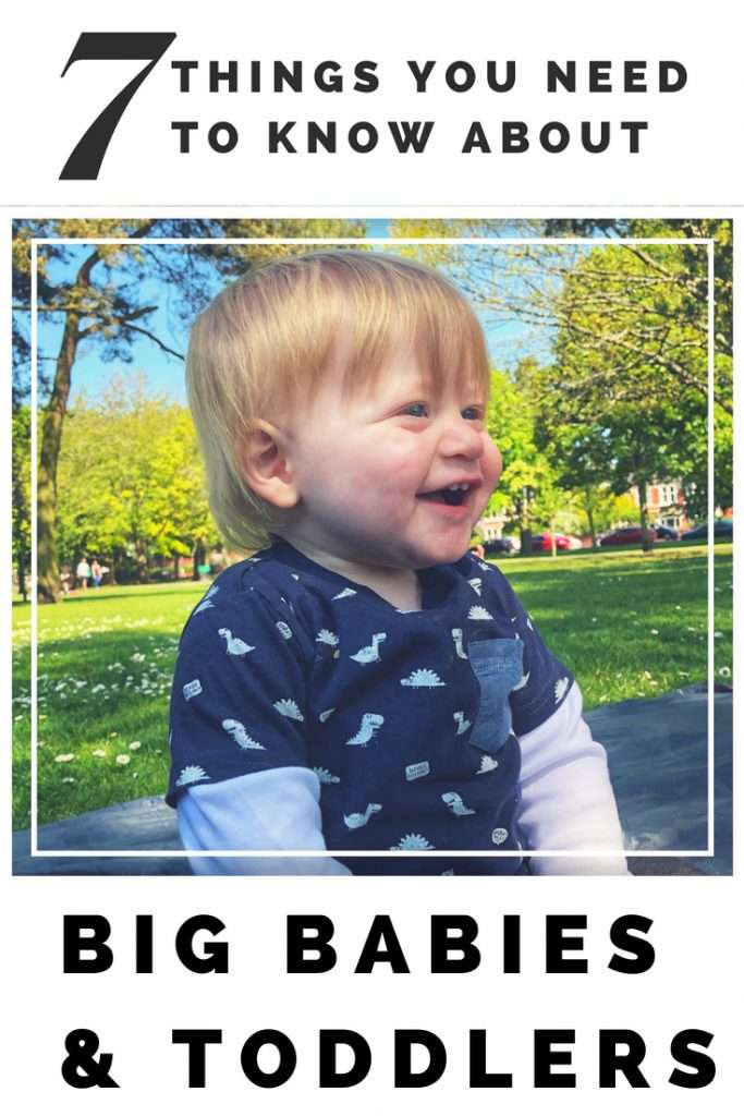 With a son who's been in the 99th percentile for weight and height since 6 weeks old, I've learned a thing or two about having a big baby. I discuss 7 practical things you really need to know about if your baby is bigger than average.