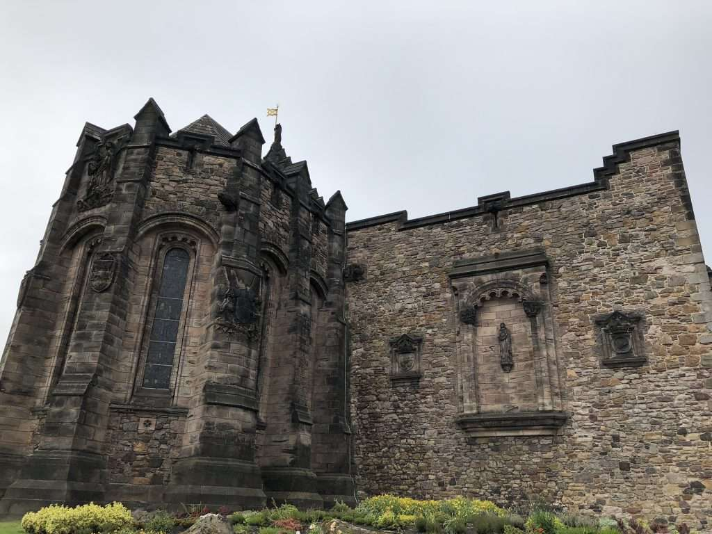 Edinburgh castle with a toddler and a stroller