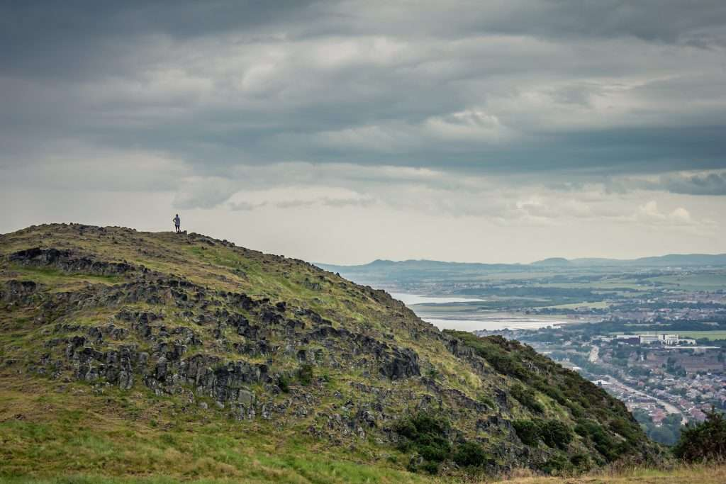 Climbing to Arthur's Seat with a toddler and look at the amazing views over Edinburgh city