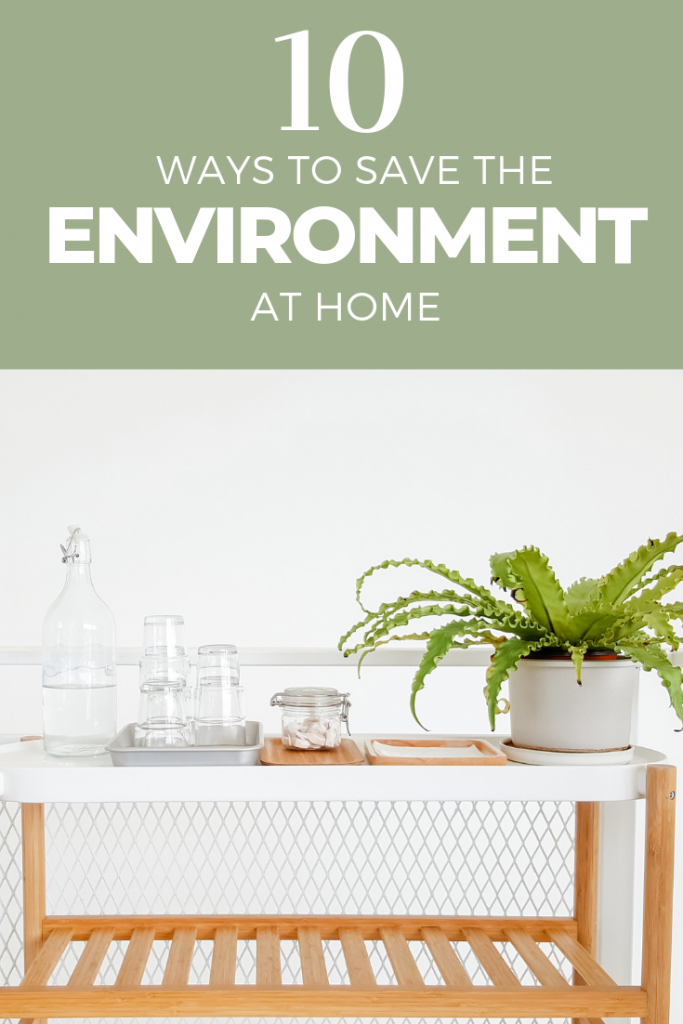 10 ways to save the environment at home. Be a more eco-friendly parent and family. #green #environment #ecofriendly