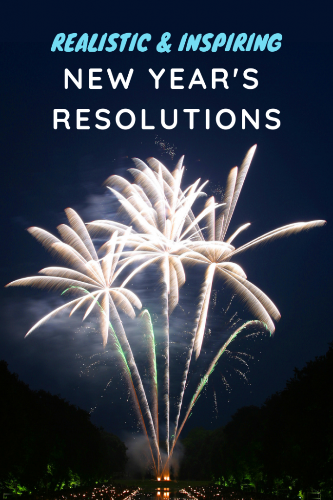 These realistic New Year's Resolutions will inspire you for ways you can make a change for the coming year!