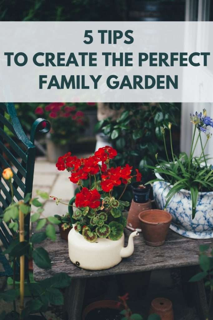 These 5 tips will help you with garden design and creating the perfect family garden. From the play area to dining alfresco to growing fruit and vegetables.