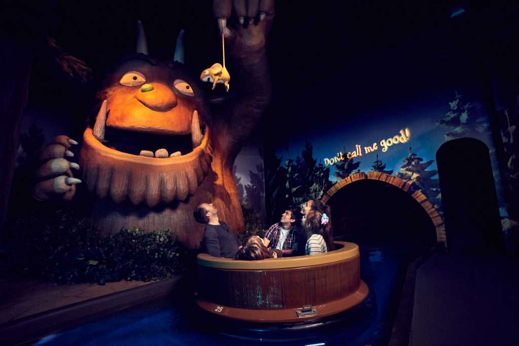 Gruffalo Ride at Chessington World of Adventure Theme Park, Zoo and Sea Life Centre