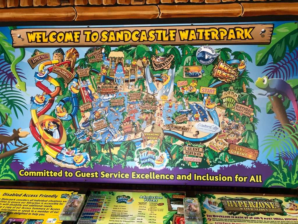 Blackpool Sandcastle Waterpark with a toddler and adrenaline junkie thrill seeker review.
