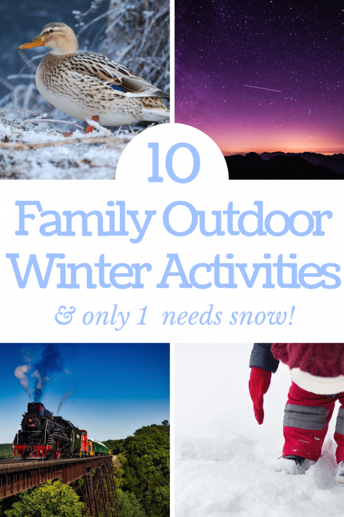 Trying to think what to do in the winter? Try these 10 unique and interesting winter outdoor activities for toddlers and the whole family. Only one of them requires snow!
