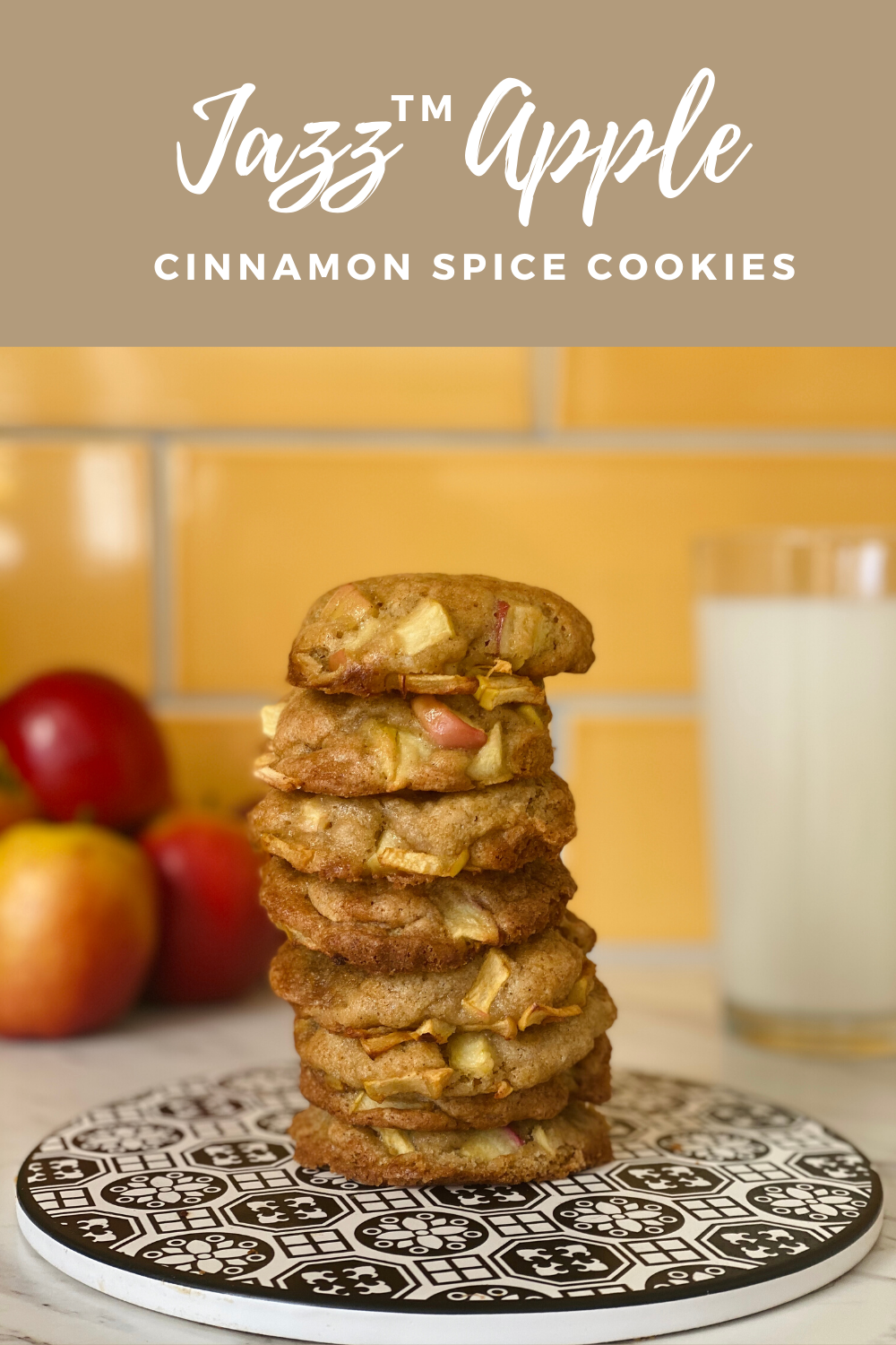 Delicious, simple and easy to cook Jazz Apple Cinnamon Spice cookies recipe that can be enjoyed by the whole family.